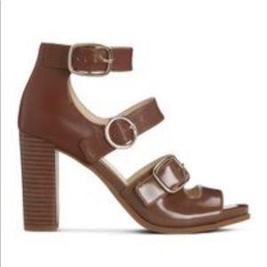 Nine West   Brown Pereira Open Toe Heels Sandals